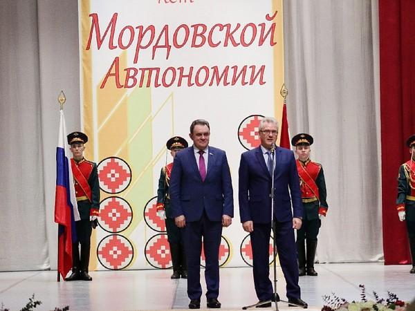 Валерий Лидин поздравил Республику Мордовия с 90-летием образования автономии